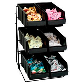 Dispense-Rite® 6 Compartment Wire Rack Condiment Organizer