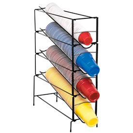 Dispense-Rite 4 Section Vertical Wire Rack Cup Dispenser by