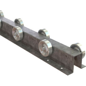 """Omni Metalcraft Straight Flow Rail FRWS1.94-4-3-10 - Top Hat 2-17/32"""" OAW 4 WPF Staggered 3"""" Centers"""