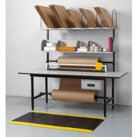 Full Function Packaging Bench, Maple Butcher Block Top, T-Mold Edge - 83 x 33