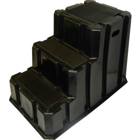 """3 Step Nestable Plastic Step Stand - Black 25-3/4""""W x 42""""D x 29""""H - NST-3-01"""