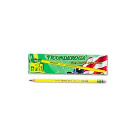 Dixon Ticonderoga Yellow Pencil, Woodcase, #1, Black Lead, 12-Pack