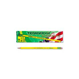Dixon Ticonderoga Yellow Pencil, Woodcase, #4, Black Lead, 12-Pack