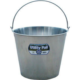 Little Giant Dairy Pail SS16P, Stainless Steel, 16 Qt.