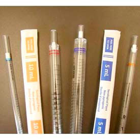 SCILOGEX Serological Pipette 1ML, 2507631, Sterile, Yellow, 100/Bag, 800/Case by