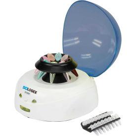 SCILOGEX D1008 EZee Mini-Centrifuge, 8-Place 1.5/2.0ml Microtube Rotor and PCR Rotor, Blue