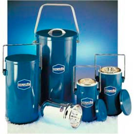 SCILOGEX DILVAC Blue Metal Cased Dewar Flask with Lid & Handle MS333, 4.5L Capacity by