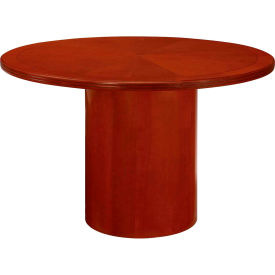 "Flexsteel Round Conference Table - 48"" - BrownCherry - Belmont Series"