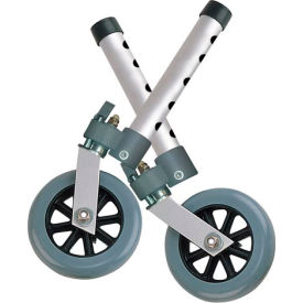 "Drive Medical 10115 5"" Swivel Walker Wheels with Lock, 1 Pair"