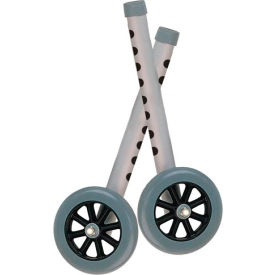 """5"""" Walker Wheels with Two Sets of Rear Glides For Use with Universal Walker"""
