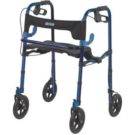 """Drive Medical 10243 Deluxe Clever Lite Rollator Walker with 8"""" Casters"""