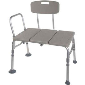 Drive Medical 12011KD-1 Plastic Tub Transfer Bench with Adjustable Backrest