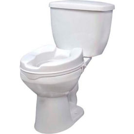 "Drive Medical 12062 Raised Toilet Seat with Lock, Standard Seat, 2"" Height"