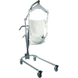 Drive Medical 13023 Hydraulic Deluxe Chrome-Plated Patient Lift with 6-Point Cradle
