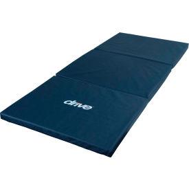 "Drive Medical Tri-Fold Bedside Fall Mat, High-Density Foam, 72""L x 30""W x 2""H, Blue"