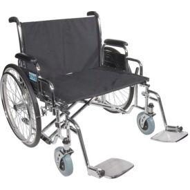 "26"" Bariatric Sentra EC Heavy Duty Extra Extra Wide Wheelchair, Detachable Desk Arms"