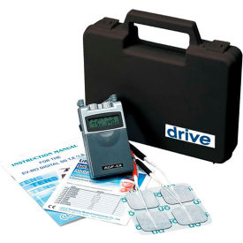 Drive Medical Portable Digital Dual Channel 5 Mode TENS Unit AGF-5X, W/Carrying Case & Electrodes