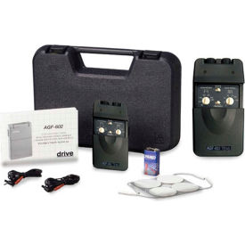 Drive Medical Portable Dual Channel TENS Unit with Timer and Electrodes AGF-602