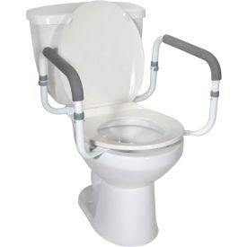 Drive Medical Toilet Safety Rail RTL12087, White