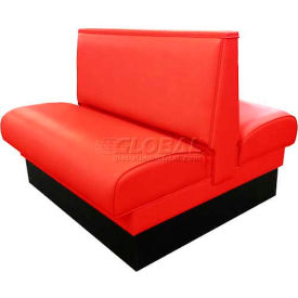 """DM Seating 36""""H Double Upholstered Booth, DBD-36-RED, Plain Back, Red by"""
