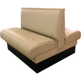 """DM Seating 36""""H Double Upholstered Booth, DBD-36-TAN, Plain Back, Tan by"""