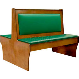 """DM Seating 42""""H Double Wood Booth, DBD42-CW-W-GREENPAD, Walnut With Green Pad by"""