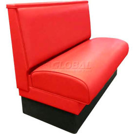 "DM Seating 36""H Single Upholstered Booth, DBS-36-RED, Plain Back, Red by"