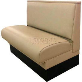 "DM Seating 36""H Single Upholstered Booth, DBS-36-TAN, Plain Back, Tan by"