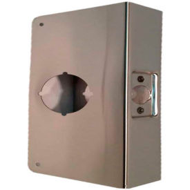 """Don Jo 12-CW-S Wrap Around For Cylinder Door Locks, 4-1/4""""x12"""", Stainless Steel"""
