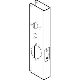 """Don Jo 27-CW-PB Wrap Around For Alarm Lk 2700/T2, 3000&DL 4100 Trilogy Lk, 5""""x15"""", Polish Brass"""