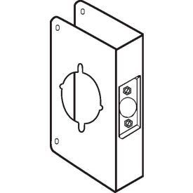 "Don Jo 75-CW-PB Wrap Around For Installing the Marks Levers, 4-3/4""x5-1/2"", Polish Brass"