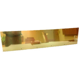 """Don Jo 90-12""""x30""""-605 Kick Plate, 3/64""""x30""""x12"""", Polish Brass"""