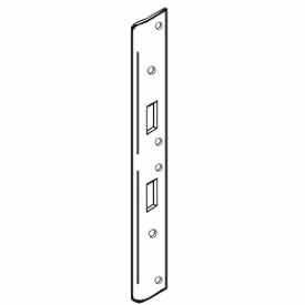 """Don Jo AST 21386-SL Armor Strike, 18""""x1-3/8"""", Dbl Hole For 5-1/2""""& 6""""Center Holes, Silver Coated - Pkg Qty 10"""