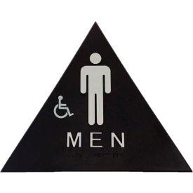 Don Jo CHS 6 Men's Restroom Sign, Black - Pkg Qty 10