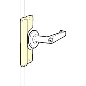 """Don Jo ELP-208-EBF-DU Latch Protector For Use W/Electric Strikes, Fasteners, 3-1/2""""x8"""", Dura Coated - Pkg Qty 10"""