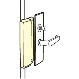 Don Jo ELP 208P-SL Latch Guard For Use W/Electric Strikes, No Cyl Hole, Silver Coated - Pkg Qty 10
