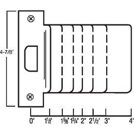 "Don Jo EST 175-DU Extended Lip, ANSI Strike, 4-7/8""x1-3/4"", Dura Coated - Pkg Qty 10"