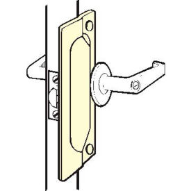 """Don Jo LP 107-630 Latch Protector For Outswing Doors, 2-3/4""""x7"""", Stainless Steel - Pkg Qty 10"""