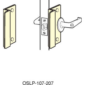 """Don Jo OSLP 207 EBF BP Short Latch Protector For Outswing Doors, 7"""", Fasteners, Brass Plated - Pkg Qty 10"""