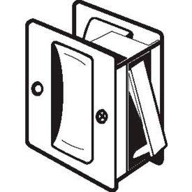 """Don Jo PDL 100-619 Passage Pocket Door Lock, 2-1/2""""x2-3/4"""", Satin Nickel - Pkg Qty 10"""