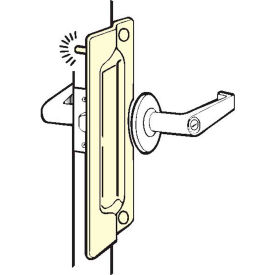 """Don Jo PLP 211 EBF-CP Pin Latch Protector For Outswing DR, 3""""x11"""", Fasteners, Chrome Plated - Pkg Qty 10"""