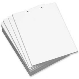 """Domtar® Custom Cut Sheet, 8-1/2"""" x 11"""", 2-Hole Punched, White, 2500 Sheets/Pack"""