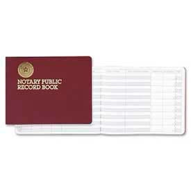 "Dome® Notary Public Record Book, 10-1/2"" x 8-1/4"", Maroon Cover"