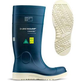Dunlop® Purofort® Comfort Grip Full Safety Work Boots, Size 12, Blue