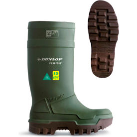 Dunlop® Purofort® Thermo+ Full Safety Men's Work Boots, Size 9, Green