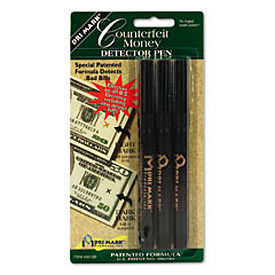 Dri-Mark® Smart Money Counterfeit Bill Detector Pen 3513B-1 for US Currency,  Price for 3/Pack