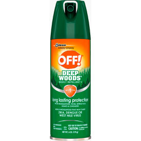 OFF® Deep Woods Insect Repellent, 25% DEET, 6 oz. Aerosol Spray, 12 Cans - 611081
