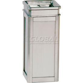 "Ash And Trash Receptacle, Stainless Steel, 5 gal capacity, 12""Sq x 27""H"