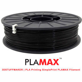 3D Stuffmaker PLA 3D Printer PLA Max Filament, 1.75mm, 0.75 kg, Black