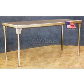 "DC Tech TB101014 72""L x 30""W Multi-Option Standard Stainless Steel Top Table"